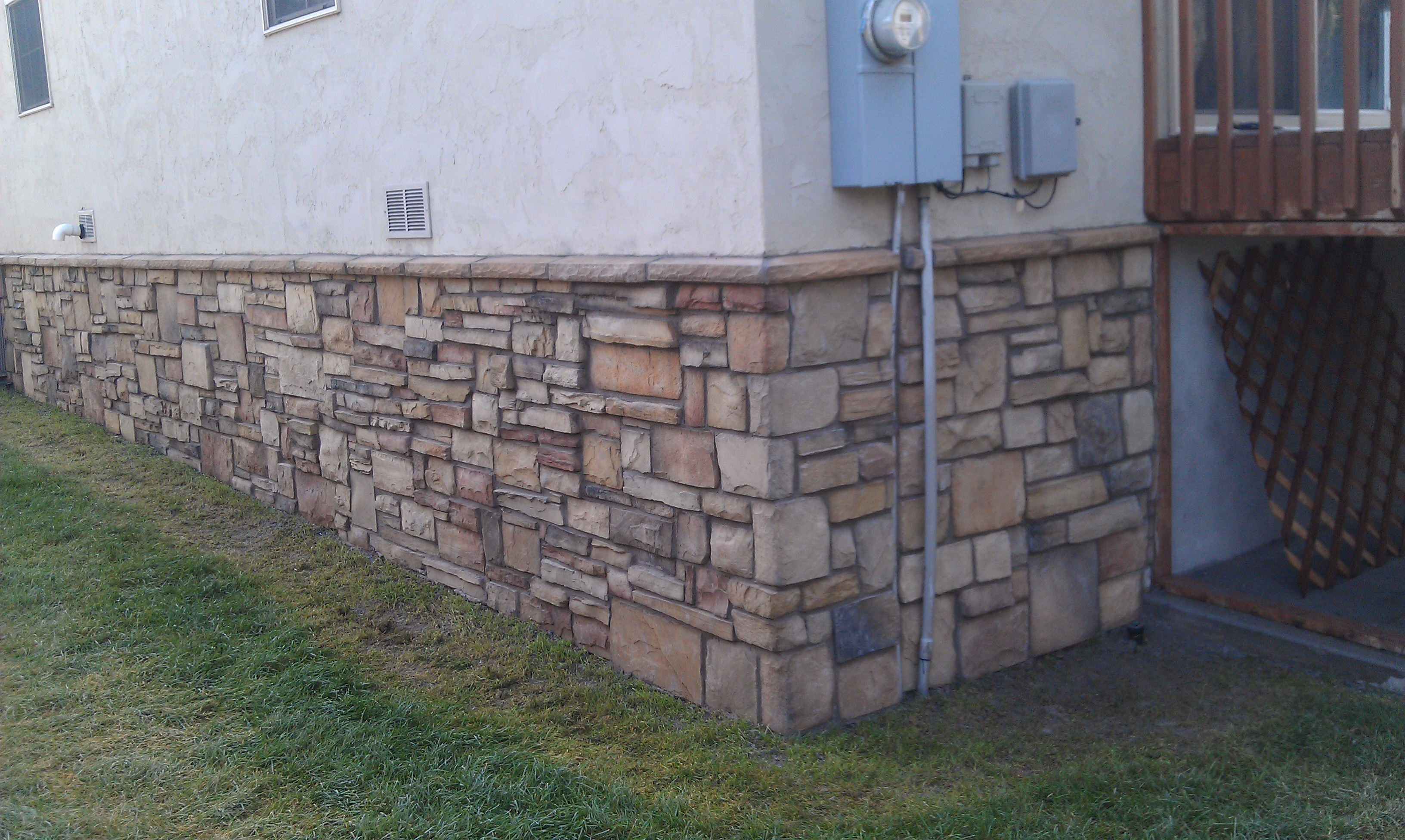 Foundation Veneered With Cultured Stone